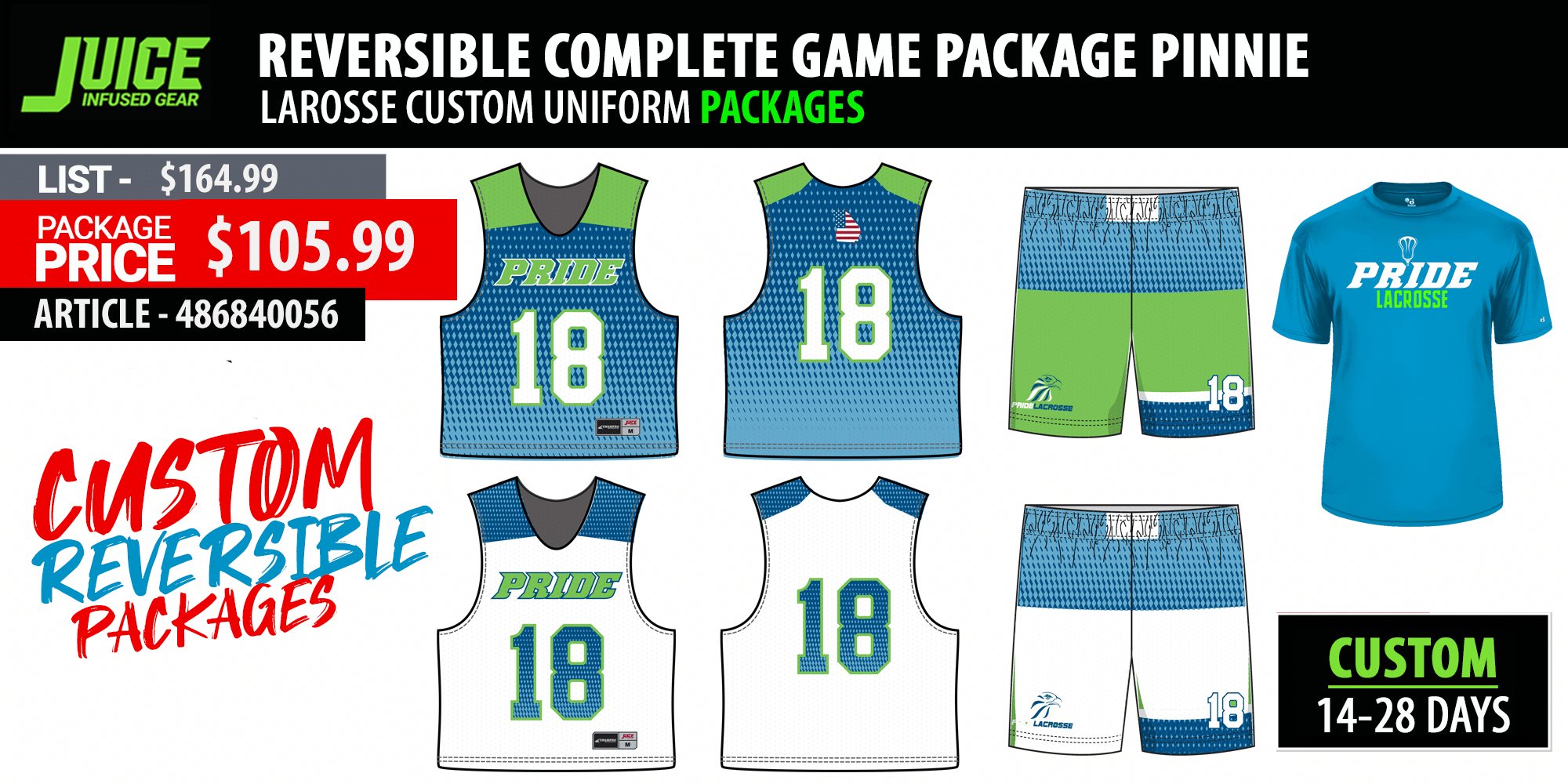 New Balance Sublimated Pro Game Uniform Package