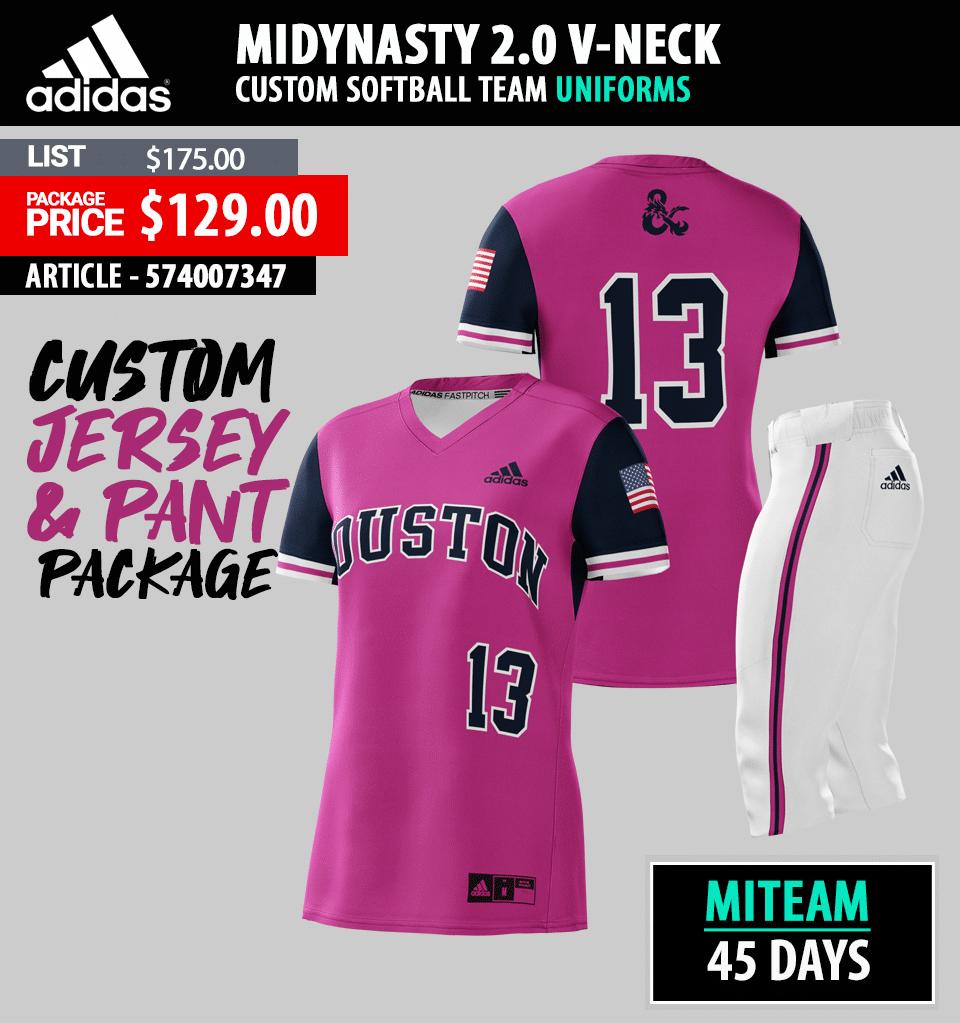 Adidas miDYNASTY Sublimated Softball Package