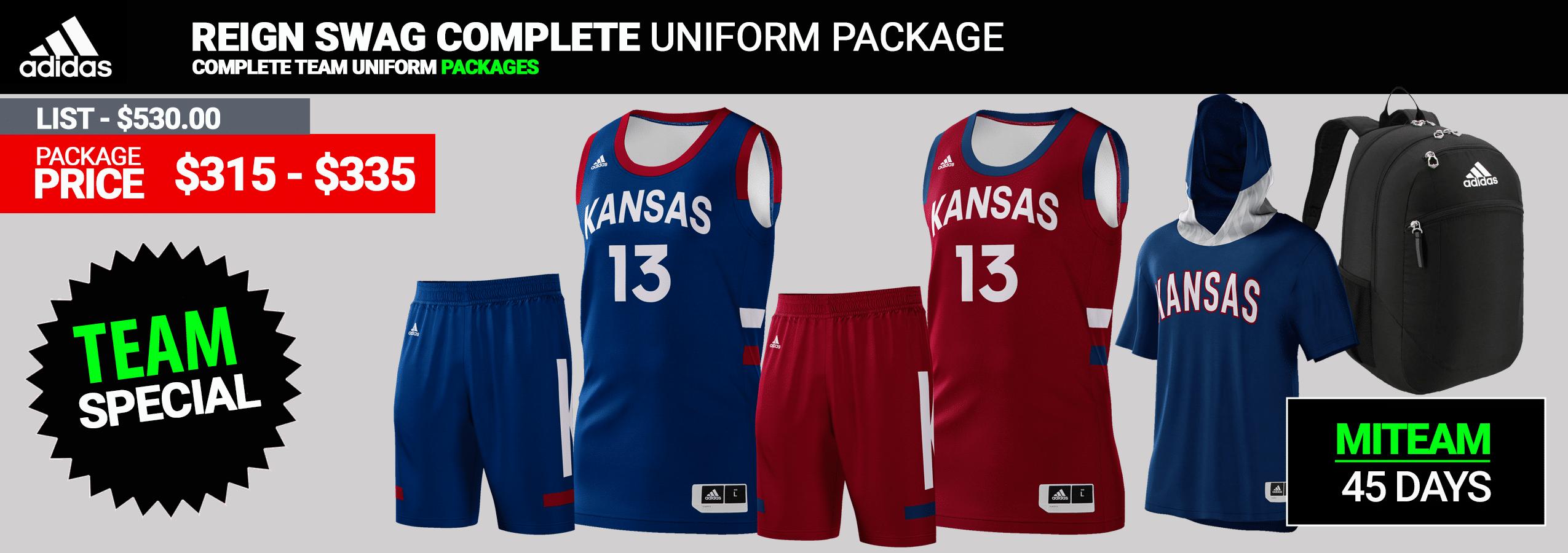 Adidas Custom Reversible Youth Basketball Uniform Package