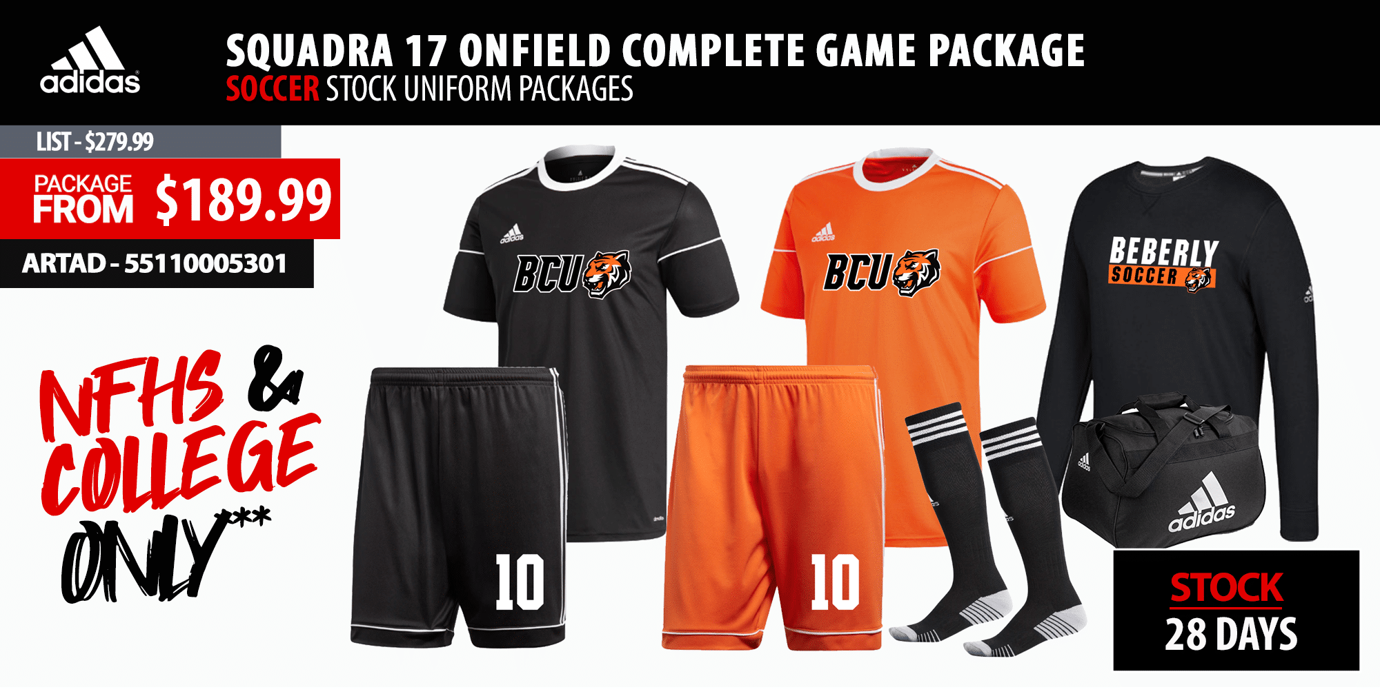Juice Sublimated Soccer Uniform Package
