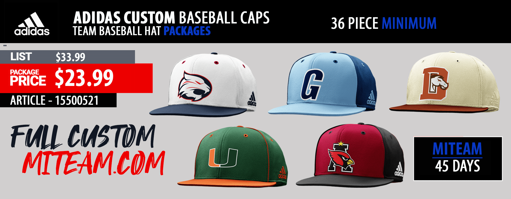 The Game Headwear - Baseball Cap Banner