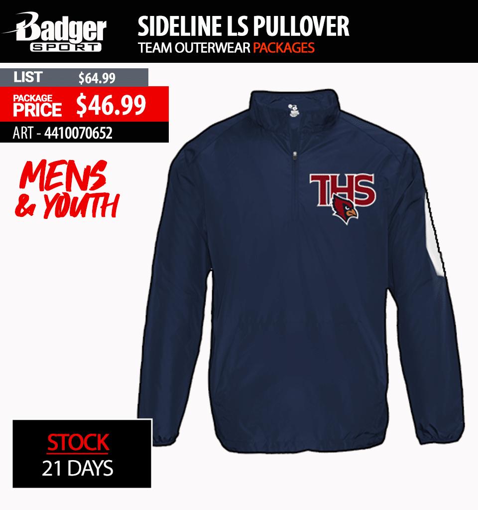Badger Sideline Pullover Short Sleeve