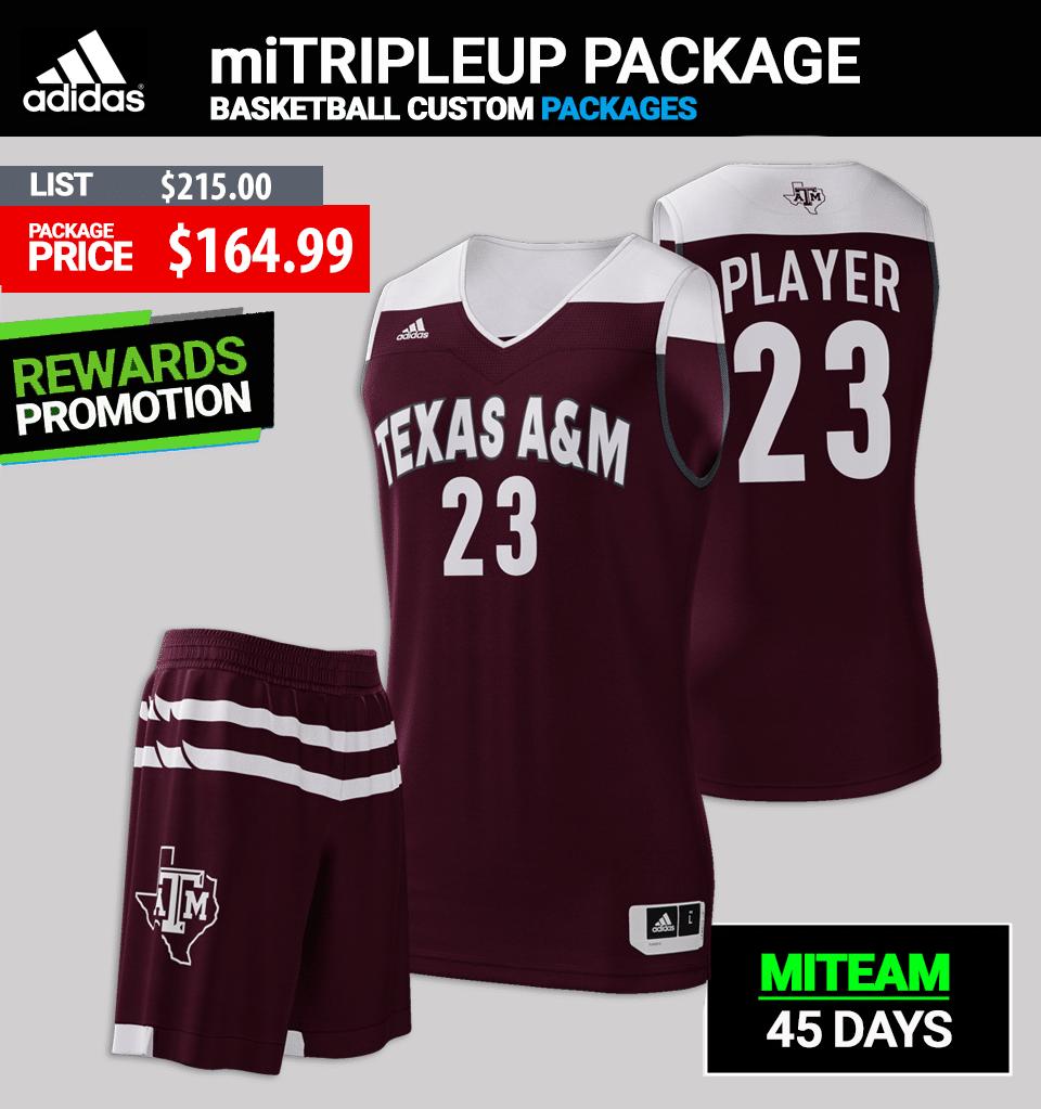 Adidas miTRIPLEUP Basketball Uniform Package - Mens