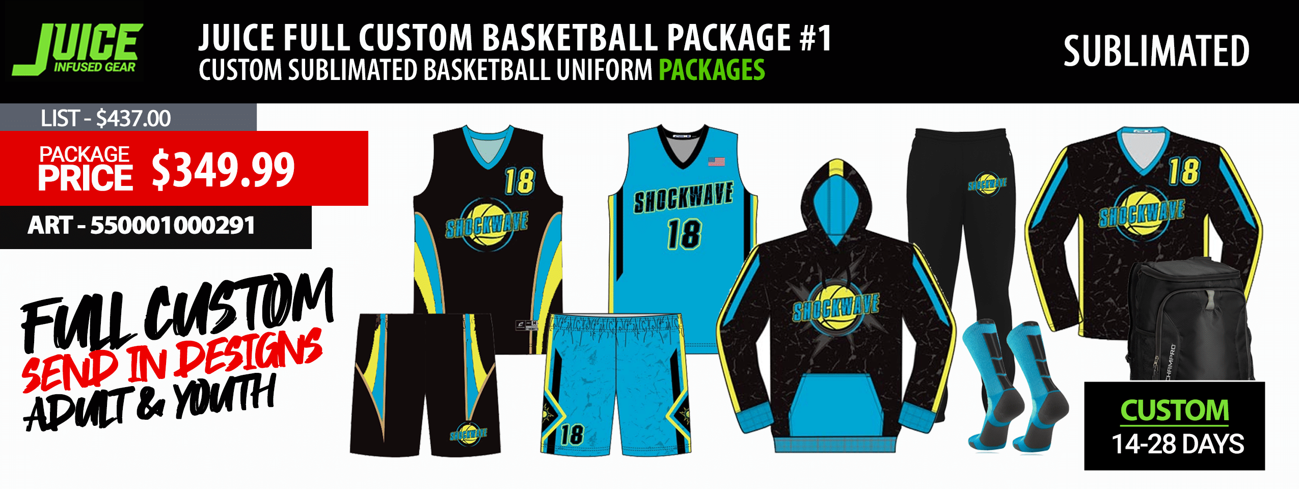 Adidas Custom Kansas Basketball Uniform Package - Mens