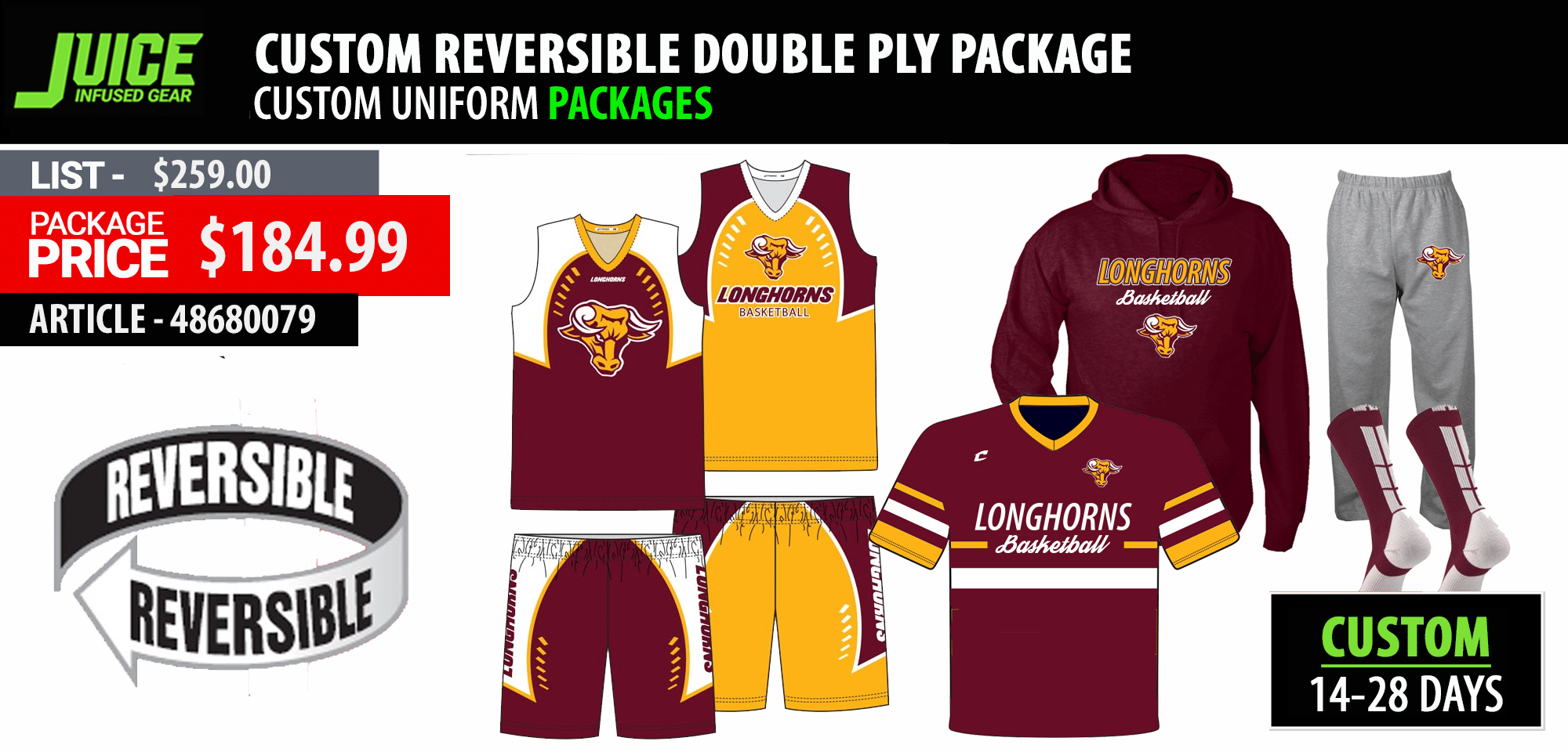 Adidas Custom Kansas Basketball Uniform Package - Mens