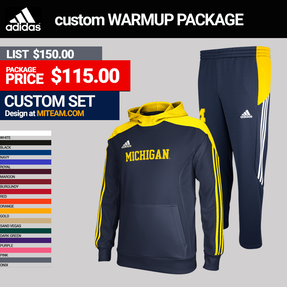 Adidas miTEAM Men's Track Warmup Package