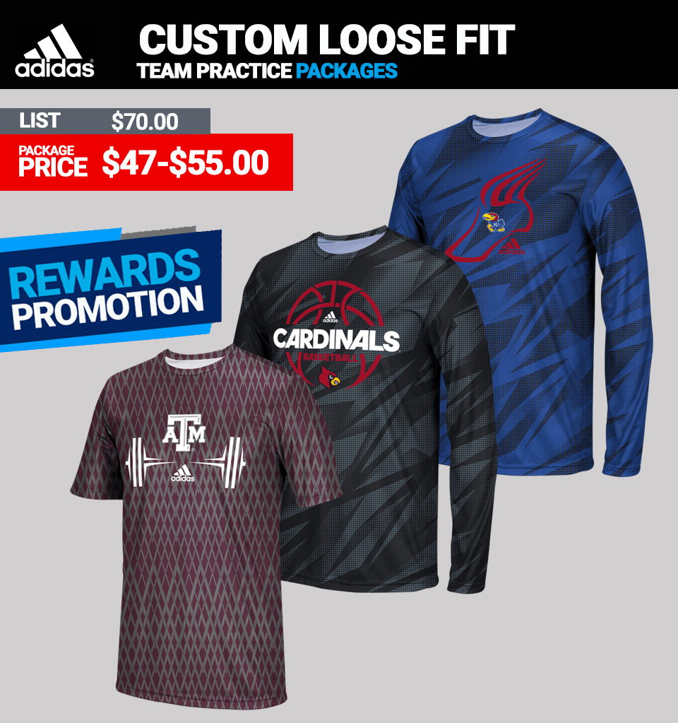 Adidas Custom Loose Fit Training Tops