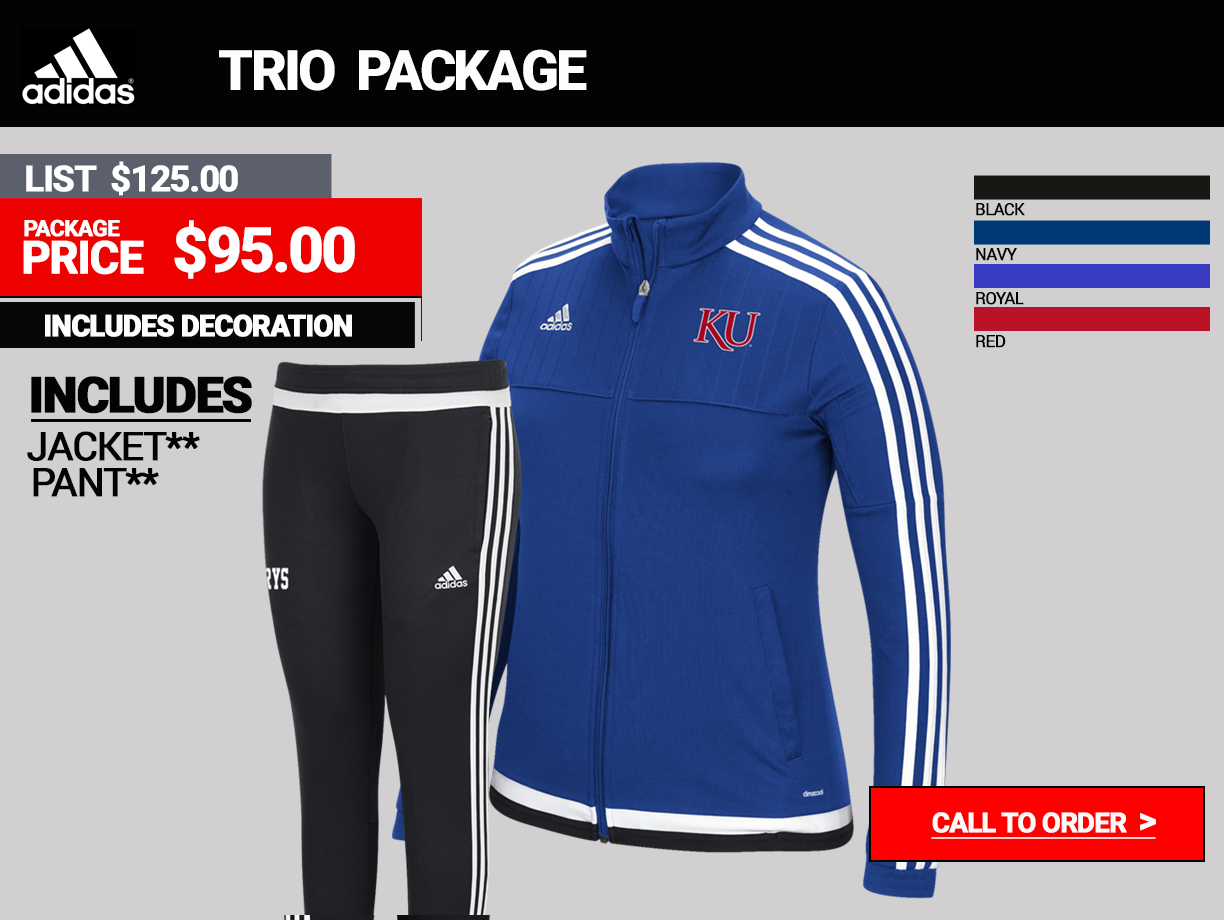 Adidas Trio Womens Warmup Package