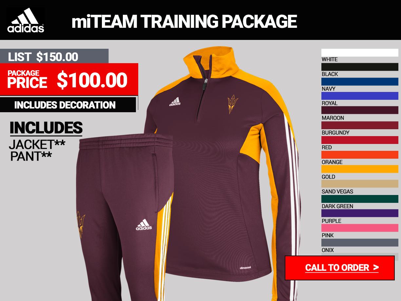 Adidas miTEAM Womens Training Warmup Package
