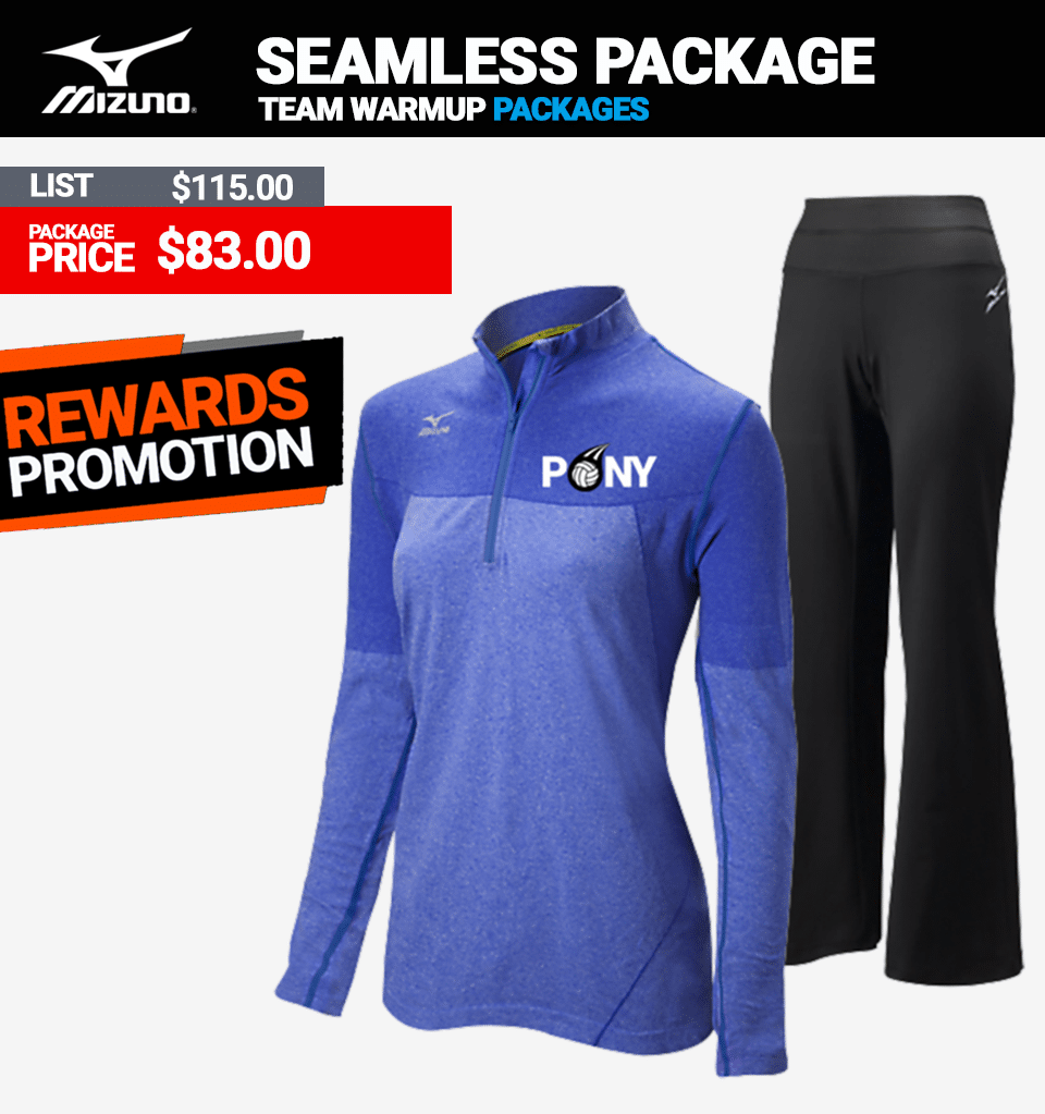Mizuno Seamless Volleyball Warmup Package