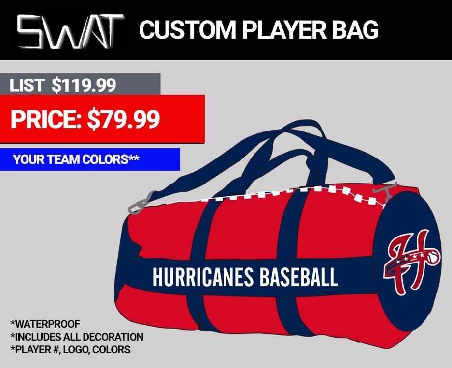 Swat Custom Baseball Softball Duffle Bag