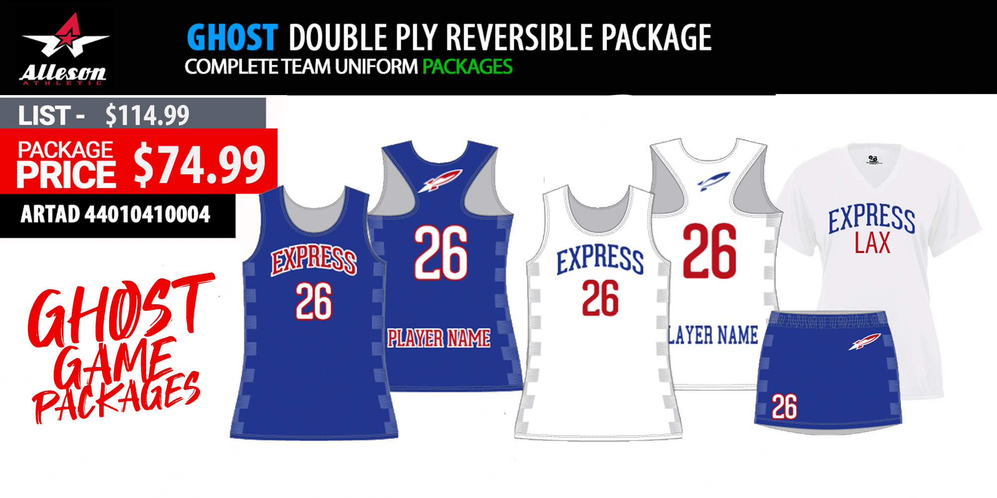 New Balance Sublimated Ladies Pro Game Uniform Package