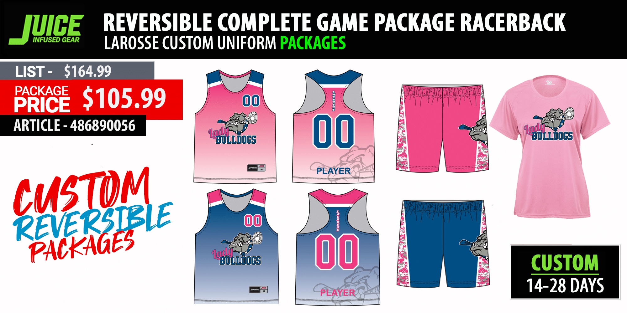 New Balance Pinnie Stock Ladies Lacrosse Package