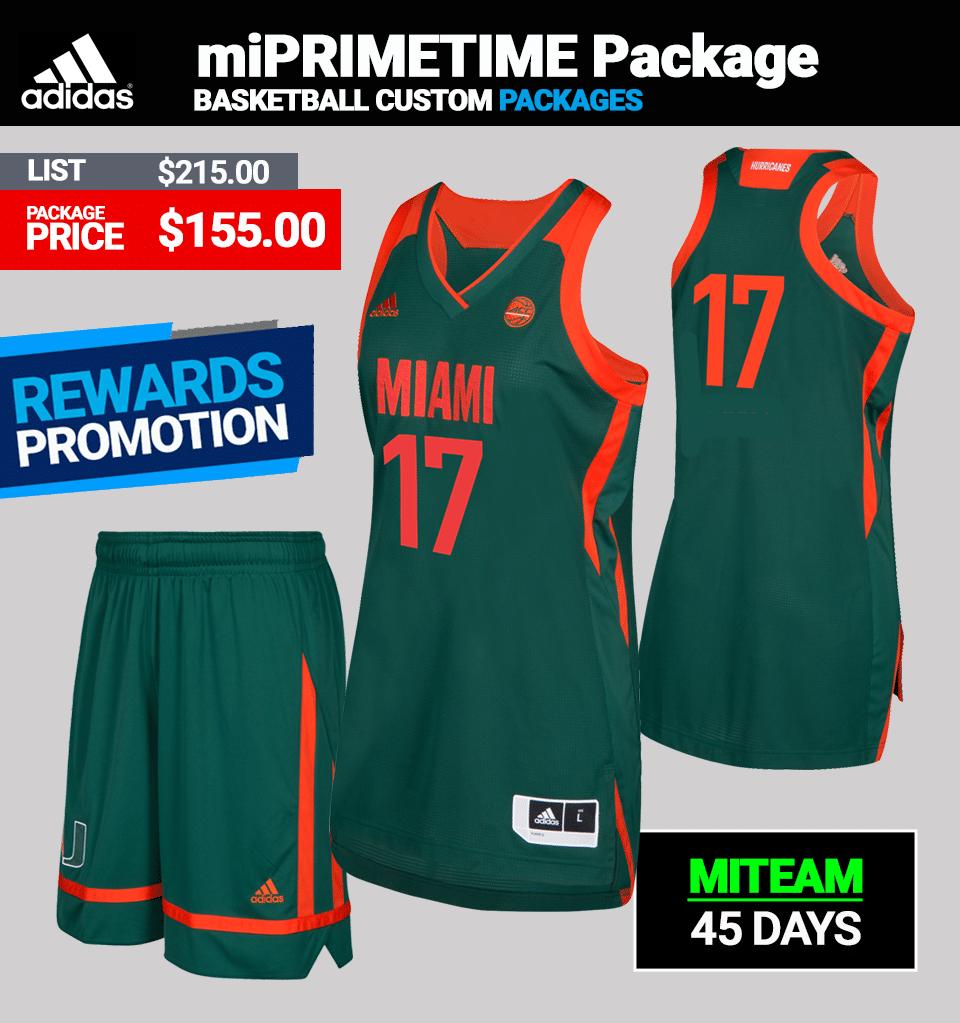 Adidas Women's miPRIMETIME Custom Basketball Package