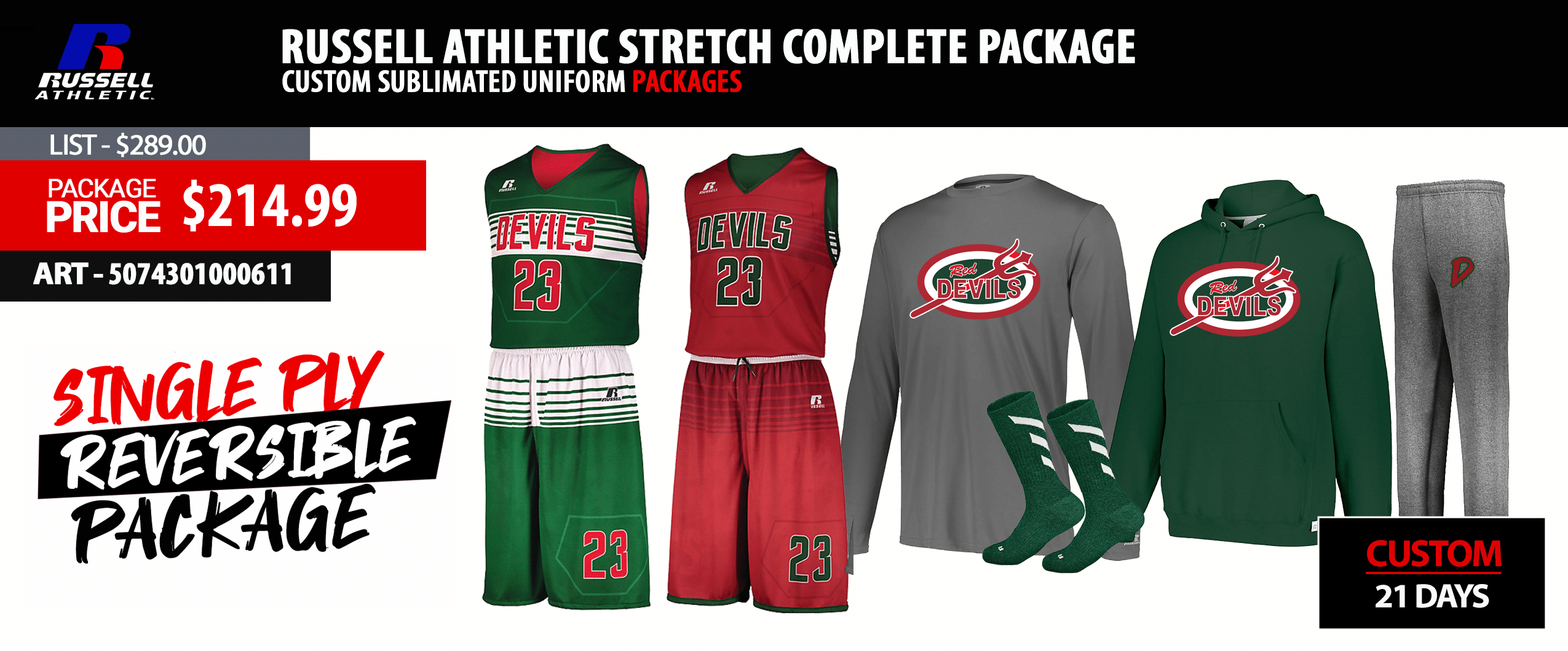 Adidas miTRIPLEUP Basketball Uniform Package - Mens