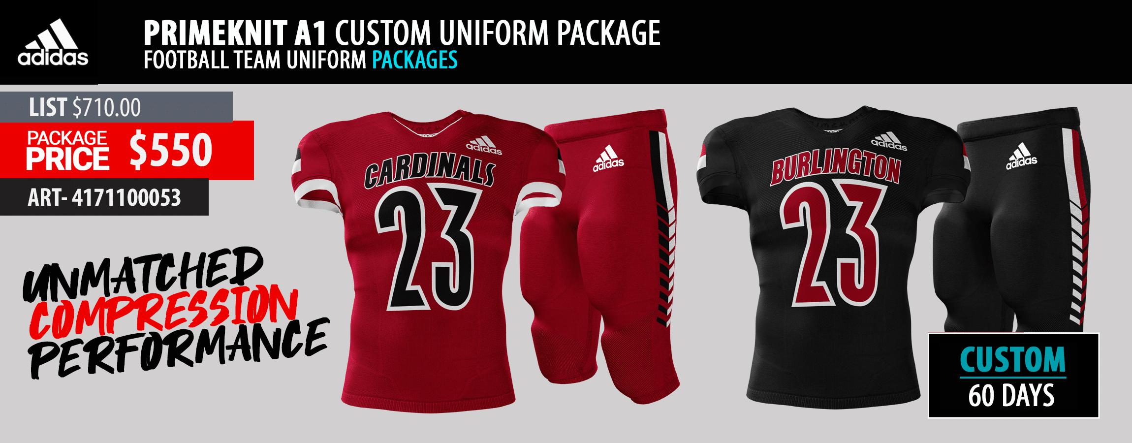 Rawlings Reversible Custom Football Uniform Package - Custom Jersey and Integrated Pant