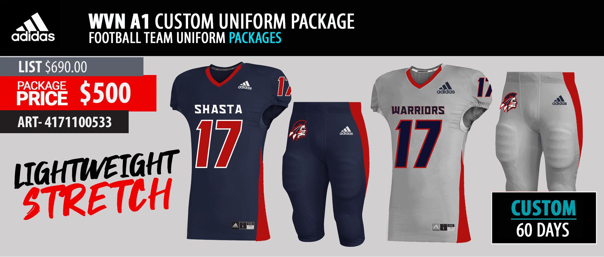 Adidas Adult Read Option - Twill Football Uniform Package