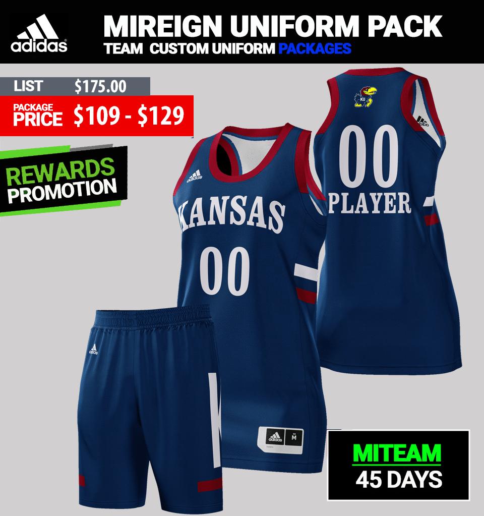 Adidas Custom Huskers Basketball Uniform Package - Mens