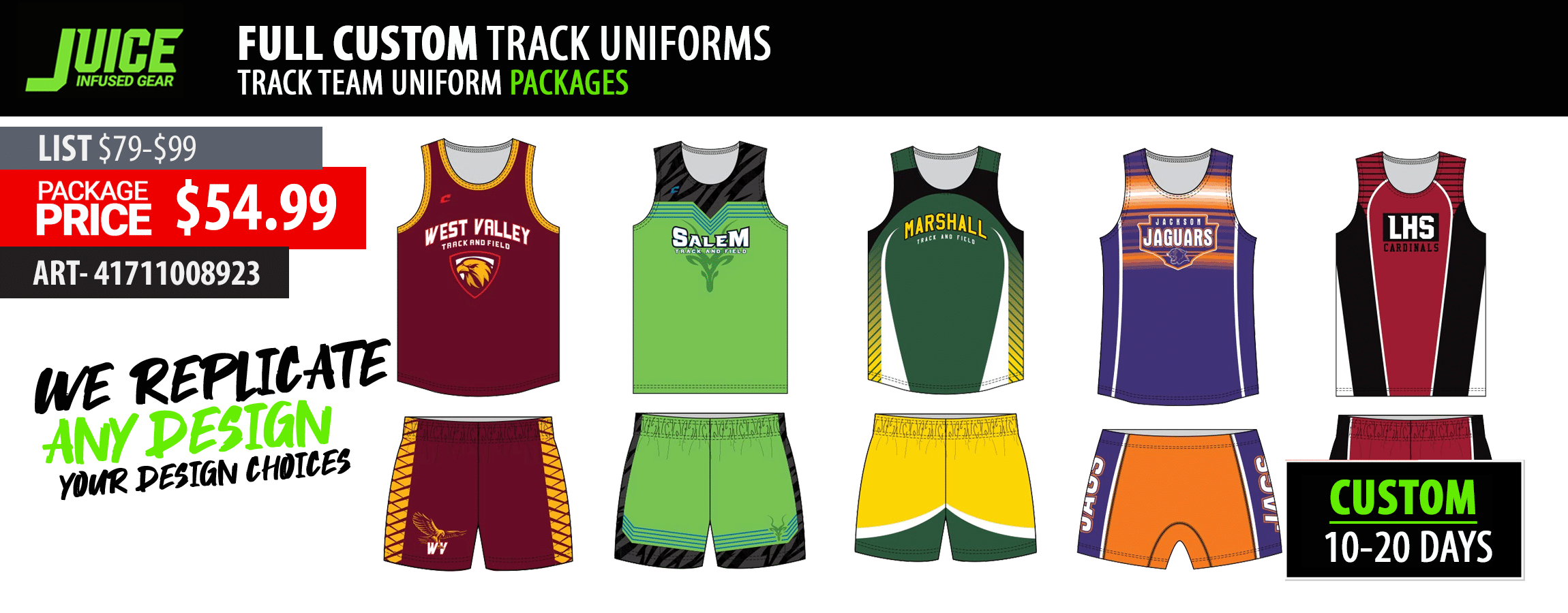 Track Team Uniform Packages | Women's