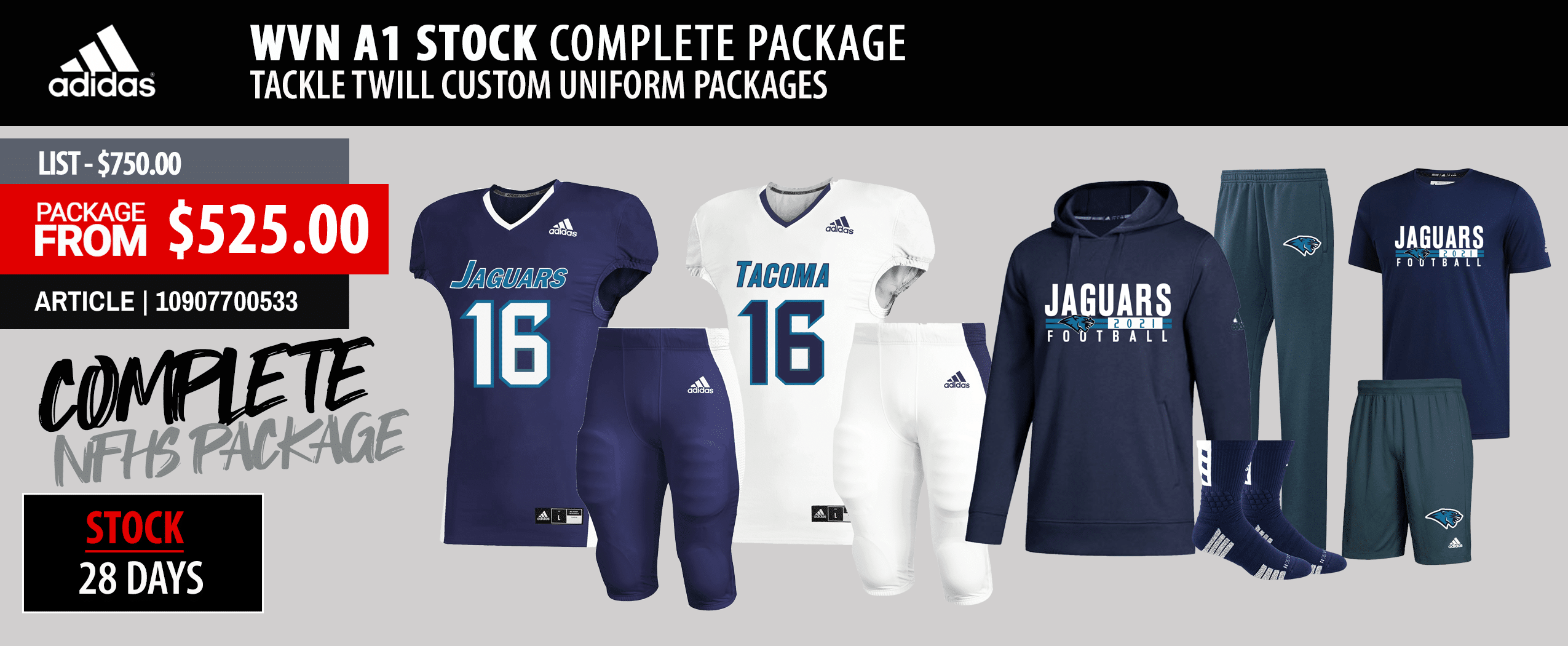 Rawlings Reversible Custom Football Uniform Package - Custom Jersey and Integrated Pant