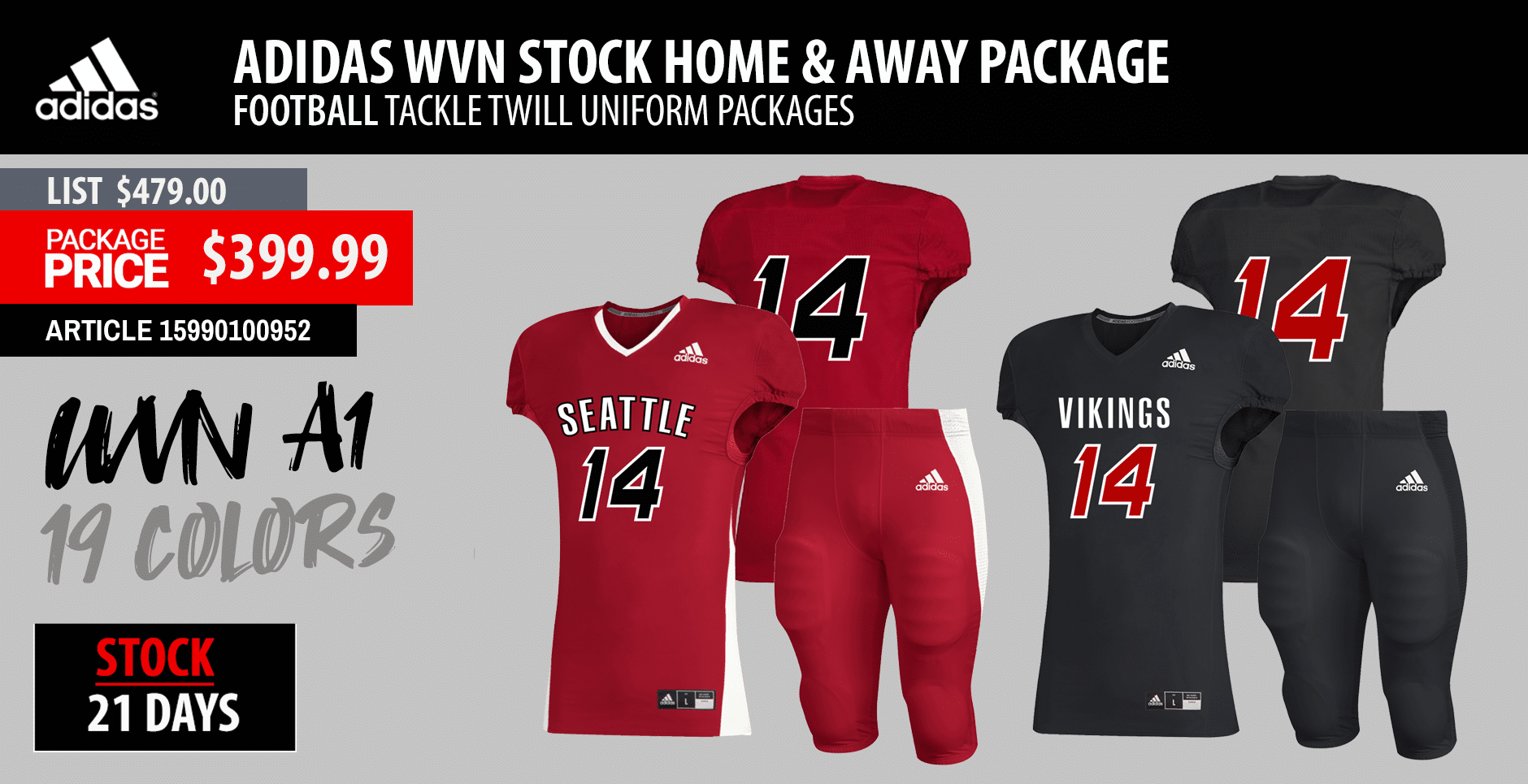 Rawlings Full Custom Football Uniform Package - Custom Jersey and Custom Pant