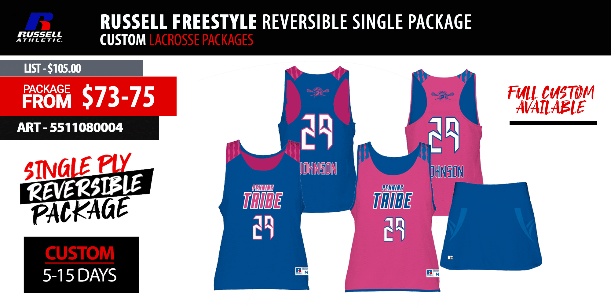 New Balance Freeze Lacrosse Uniform Package